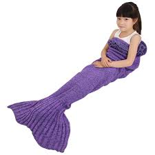 amazon com battop mermaid tail knitted blanket for kids child