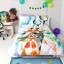 Childrens Duvet Cover Sets Lelva Children U0027s Bedding Set Cotton Cartoon Giraffe Duvet Cover