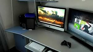 corner gaming computer desk 2012 gaming setup mlg pro gaming corner xbox360 slim