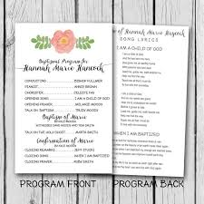 lds baptism program watercolor by lucky7dsigns on etsy brynlee s