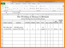 Wedding Guest List Excel Template 8 Wedding Guest List Excel Monthly Budget Forms