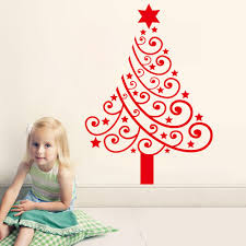 christmas tree vinyl wall decal christmas lights decoration new arrival christmas tree vinyl wall stickers removable christmas decal home decoration removable decals xmas33 new