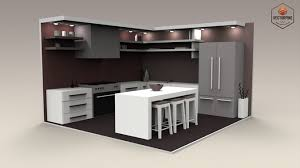 interiors for kitchen 3d model low poly interiors kitchen cgtrader