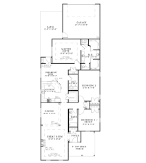 four bedroom house plan narrow lot 4 bedroom house plans home mansion long narrow floor
