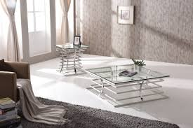 snyder modern square glass coffee table