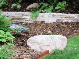 Garden Retaining Wall Blocks by Unique Stone Retaining Wall Ideas