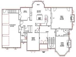 Walk Out Basement House Plans by Lake Home Floor Plans Lake House Plans Walkout Basement House