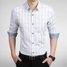 mens shirts slim fit m 5xl 100 cotton mens dress shirts clothes