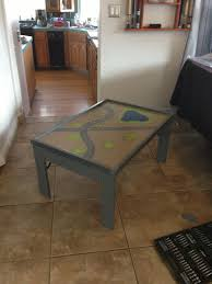 fold up train table homemade collapsible train table my original works pinterest