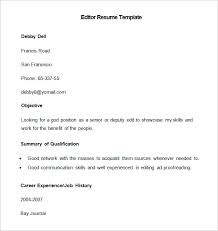 Resume Photo Editor Media Resume Template U2013 31 Free Samples Examples Format