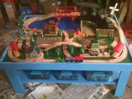 diy folding train table simple train play table