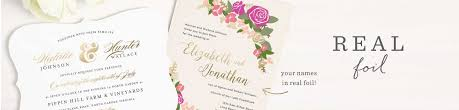 foil stamped wedding invitations gold silver u0026 rose gold