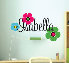 kids room interior wall decoration with kid wall decals for large size of black vinyl wall name letter decal decor design idea color flowers wall deca
