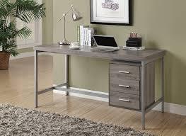 Dark Wood Office Desk Amazon Com Monarch Reclaimed Look Silver Metal Office Desk 60