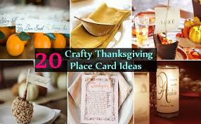 20 crafty thanksgiving place card ideas home so