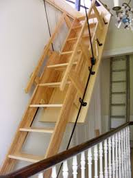 Access Stairs Design Furniture Wooden Attic Acces Stairs With Handrail With
