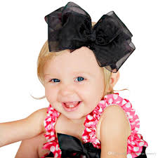 big bows for hair 2017 baby handmade gauze big bow hair shiny sequin