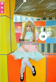 Candy Princess Halloween Costume Anime Candy Color Japanese Maid Cosplay Costume Pink