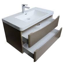 merida 35 5 inch wall mount bathroom vanity in light pine tn sm900