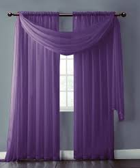 warm home designs pair of lilac purple sheer curtains or extra