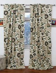 singha crewel curtain panel and drapes hand embroidered cotton fabric
