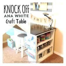 Small Craft Desk Craft Desk With Storage Craft Table With Storage Small Craft Table