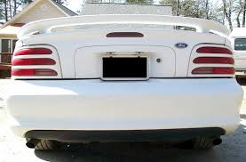 95 mustang gt rear end white 1995 ford mustang gt convertible mustangattitude