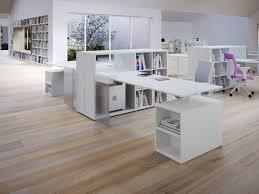 white modern office desk