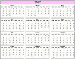 print calendars for 2017 yearly 2017 printable calendar color weekday starts sunday