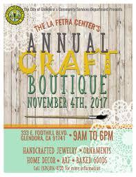 Home Decor Fair The La Fetra Center U0027s Annual Craft Fair Event Calendar City Of