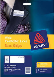 avery silver fabric name badge labels l4784 15 avery online