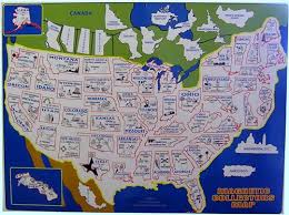 collector s magnetic collectors map wall drug store