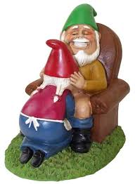 cheeky garden gnome decorative ornament figure