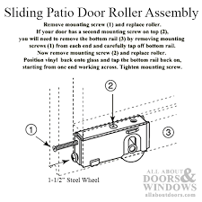 replacing sliding glass door rollers assembly with 1 1 2 inch steel wheel for sliding patio door