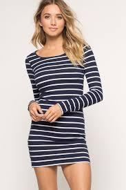 memdalet long sleeve blue u0026 white stripe dress nautical