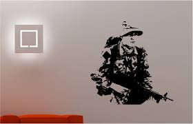 army soldier military man wall art sticker bedroom kids childrens army soldier military man wall art sticker bedroom kids childrens vinyl decal