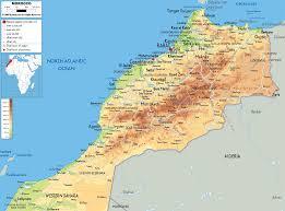 algeria physical map physical map of morocco ezilon maps