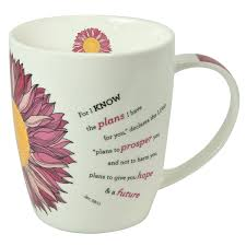 amazon com flower power inspirational mug jeremiah 29 11