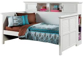 belmar white 4 pc twin bookcase daybed beds colors