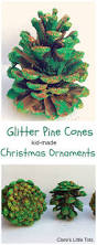 glitter pine cones easy christmas crafts crafts and babies