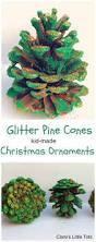glitter pine cones pine cone christmas ornament and pine