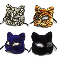 1pcs masquerade prom party mask halloween mask animal cat face