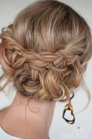upstyle hair styles casual messy braided updo the best braided updos for parties