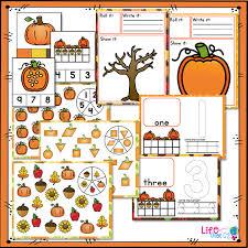 fall math u0026 literacy centers for pre k preschool bundle life over cs