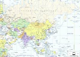 Political Map Of Asia Asia