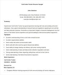 exle of an excellent resume call center resume exle 9 free word pdf documents