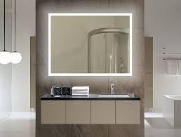 Lit Bathroom Mirror Appealing Backlit Bathroom Mirror Bathroom Home Decoractive Diy
