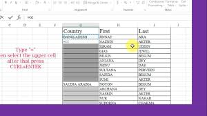 Blank Spreadsheets How To Fill Blank Cells In Excel By Using Data Above Or Choice
