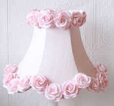 pink dupioni silk lamp shade with roses rosenberryrooms com
