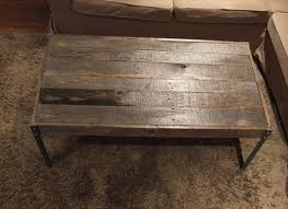 coffee table cost low cost pallet coffee table with metal legs pallet furniture diy